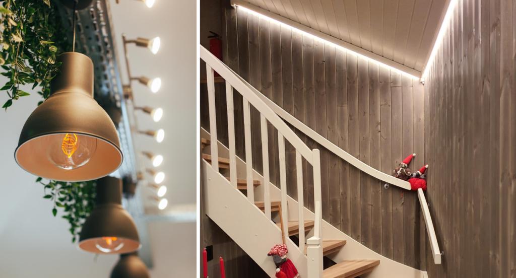 Riktig lyssetting innendørs gir et godt førsteinntrykk El